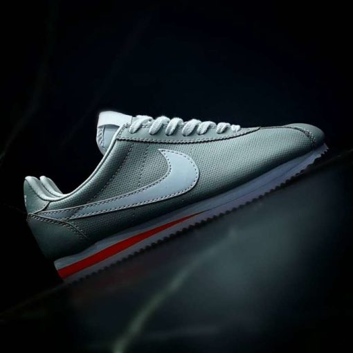 Nike Cortez Classic Leather White & Gray