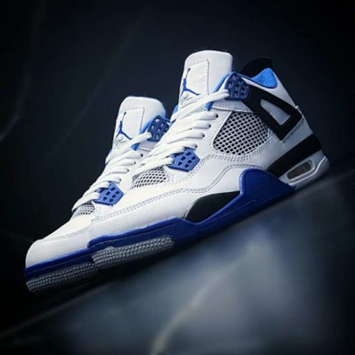 Кроссовки Nike Air Jordan 4 White & Blue