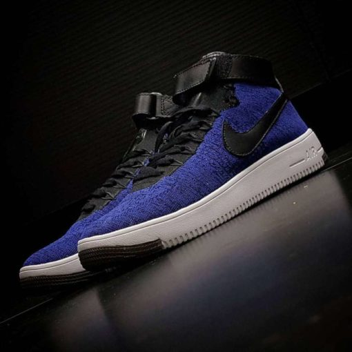 Кроссовки Nike Air Force 1 Ultra Flyknit Blue and WhiteКроссовки Nike Air Force 1 Ultra Flyknit Blue and White