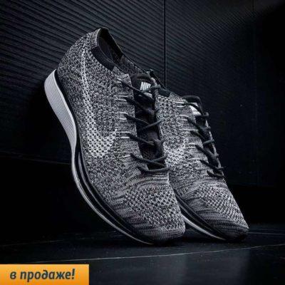 кроссовки Nike Flyknit Racer gray