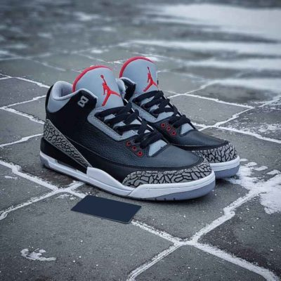 Air Jordan 3 Black and Gray